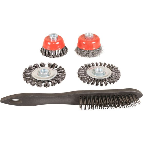 ToolPRO Steel Wire Brush Set - 5 Piece, , scaau_hi-res