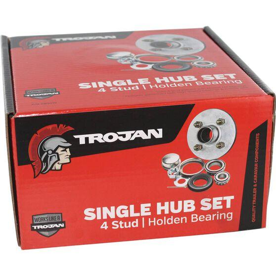 Trojan Trailer Hub Kit - Holden, 4 Stud, , scaau_hi-res