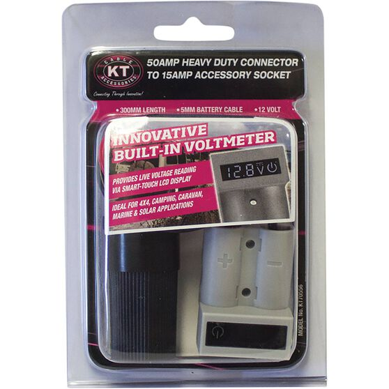 KT Cable Connector - 50AMP, Voltmeter, 15AMP Accessories Socket, , scaau_hi-res