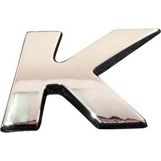 SCA 3D Chrome Badge Letter K, , scaau_hi-res