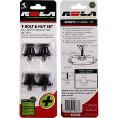 Rola T-Bolt - M6 Thread, Stainless Steel, 4 Pack, RSLTB6SS, , scaau_hi-res