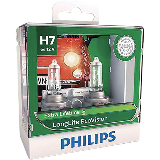Philips LongLife EcoVision H7 Headlight Globes 12V 55W, , scaau_hi-res