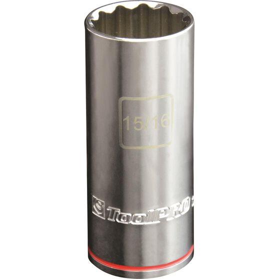 ToolPRO Single Socket - Deep, 1 / 2 inch Drive, 15 / 16 inch, , scaau_hi-res