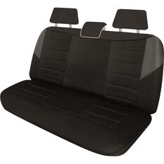 Carbon Mesh Seat Covers - Black and Grey, Adjustable Headrests, Size 06H, Rear Seat, , scaau_hi-res