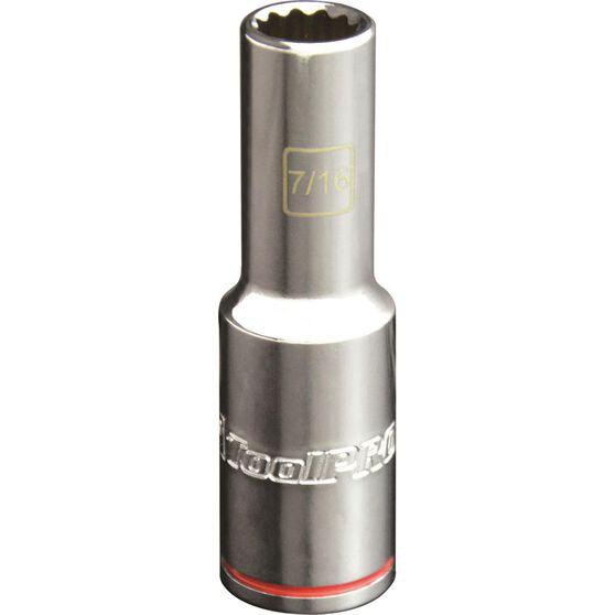 ToolPRO Single Socket - Deep, 1 / 2 inch Drive, 7/16 inch, , scaau_hi-res