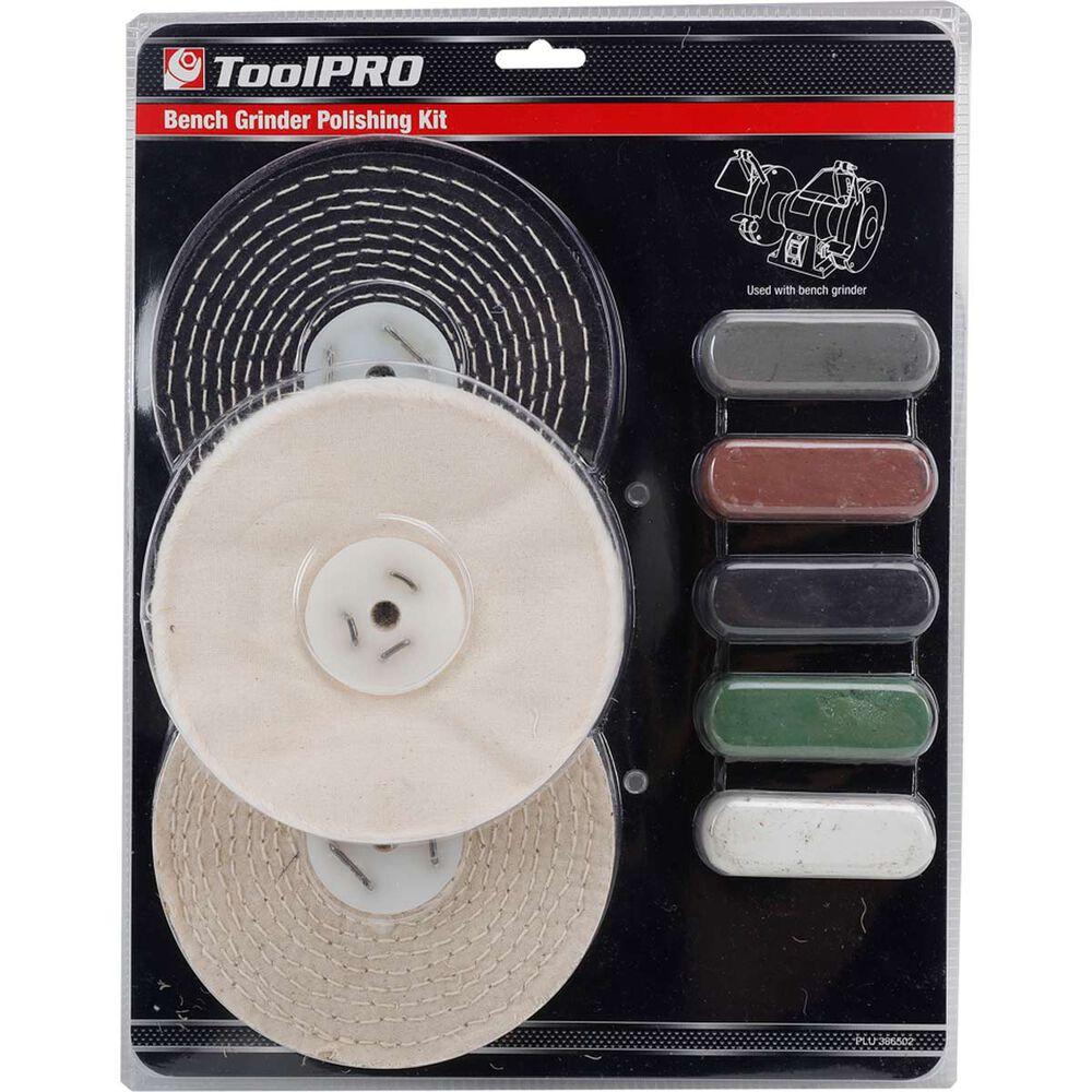 Toolpro Bench Grinder Polishing Kit 8 Piece Supercheap