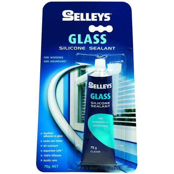 Selleys Glass Sealant - Clear, 75g, , scaau_hi-res