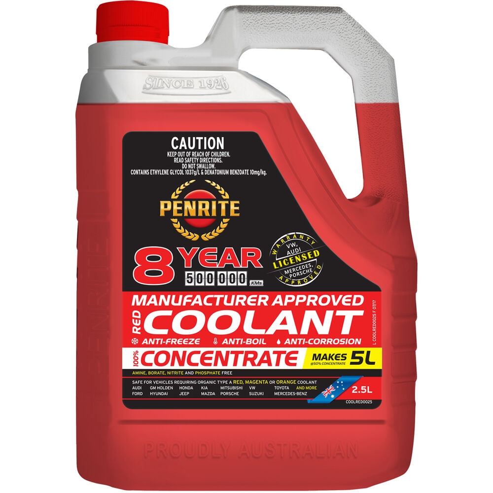 Penrite Red Long Life Anti Freeze / Anti Boil Concentrate Coolant - 2 5L