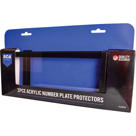 SCA Number Plate Protector - 6 Figure Clear Standard, , scaau_hi-res