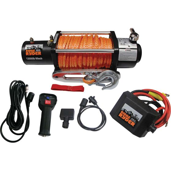 Ridge Ryder Electric Winch - 12V, 12000lb, , scaau_hi-res