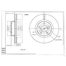 Bosch Disc Brake Rotor PBR648, , scaau_hi-res