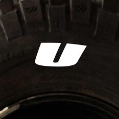 Tire Stickers - Letter U, , scaau_hi-res