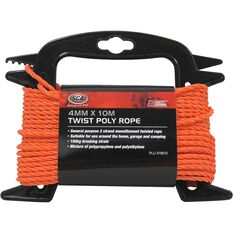 SCA 3 Strand Twist Poly Rope - 4mm X 10m, , scaau_hi-res