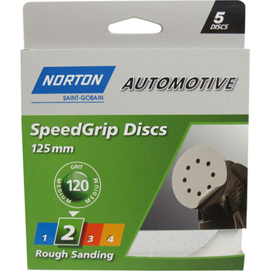 Norton S / Grip Disc - 120 Grit, 125mm, 5 Pack, , scaau_hi-res