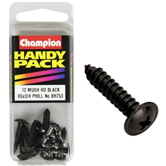 Champion Mush Head Screws - 8G X 3 / 4inch, BH753, Handy Pack, , scaau_hi-res