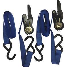 Ratchet Tie Down - 4.3m, 350kg, 2 Pack, , scaau_hi-res