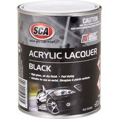 SCA Acrylic Paint - Black , 1 Litre, , scaau_hi-res
