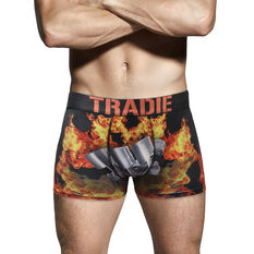 Tradie Mens Flamin Pistons Trunks Flamin Pistons S, Flamin Pistons, scaau_hi-res