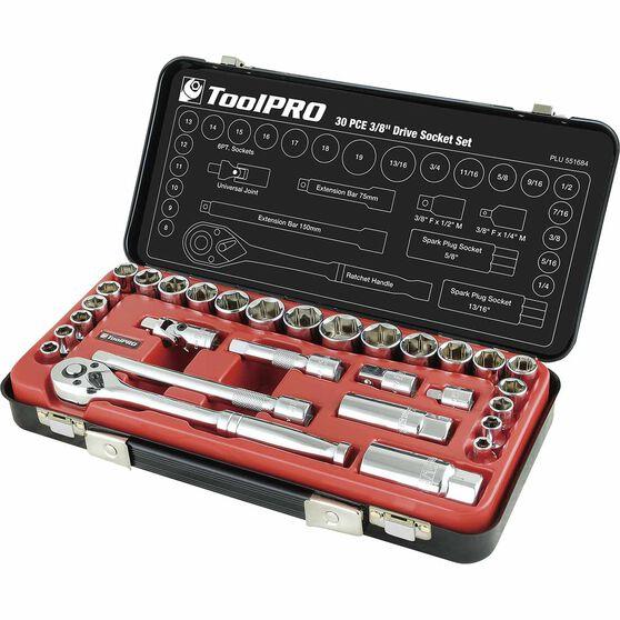 "ToolPRO Socket Set - 3/8"" Drive, Metric & Imperial, 30 Piece, , scaau_hi-res"