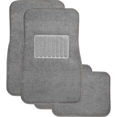 SCA Premier Car Floor Mats - Carpet, Charcoal, Set of 4, , scaau_hi-res