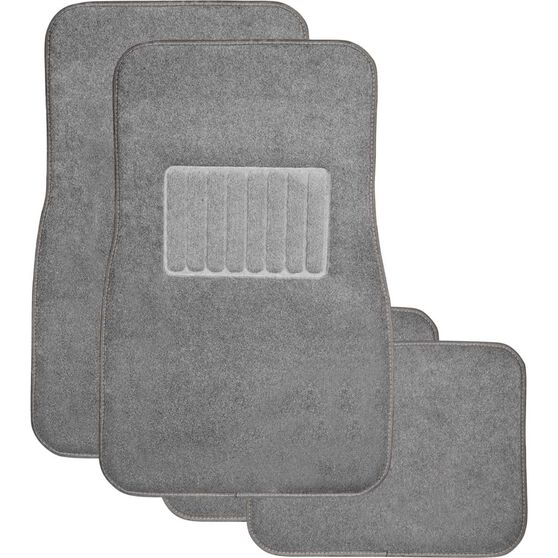 SCA Premier Car Floor Mats - Carpet, Charcoal, Set of 4, , scaau_hi-res