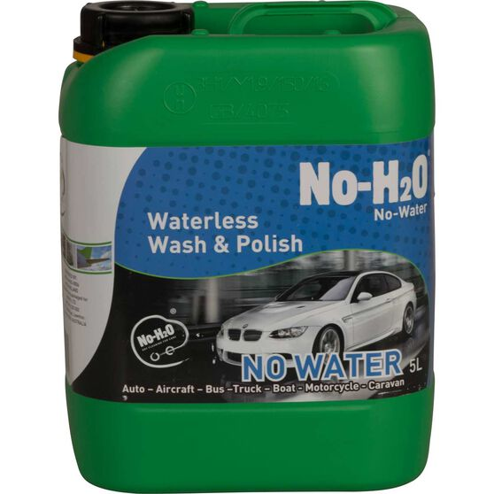 No-H2O Waterless Wash and Polish - 5 Litre, , scaau_hi-res