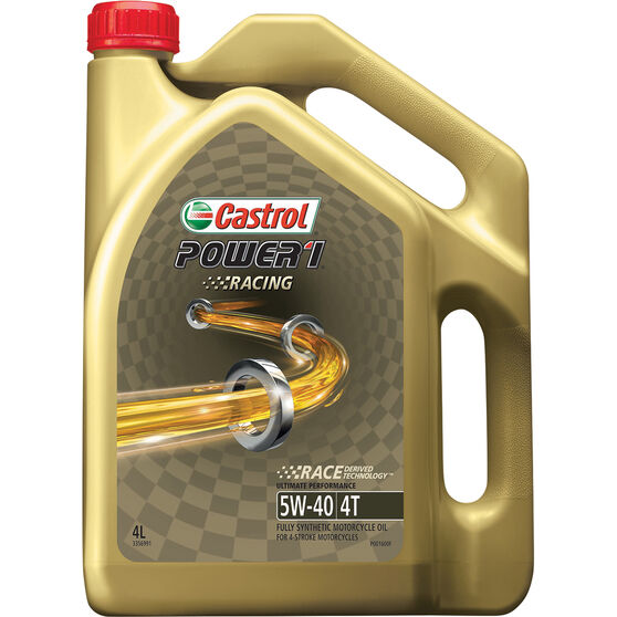 Castrol POWER1 Racing 4T Motorcycle Oil 5W-40 4 Litre, , scaau_hi-res