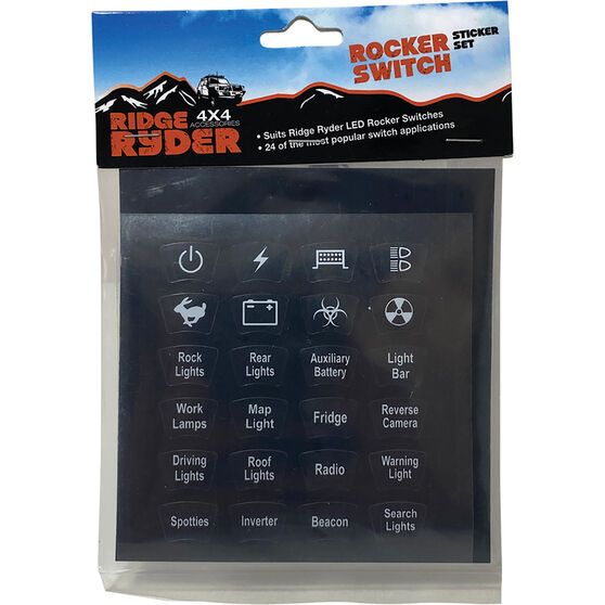Ridge Ryder Sticket Set - To Suit LED Rocker Switches, , scaau_hi-res