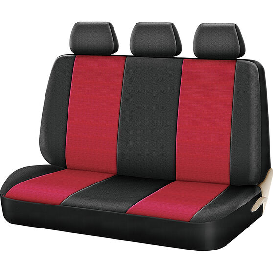 SCA Cord Seat Covers - Red/Black, Size 06H, Rear Seat, , scaau_hi-res
