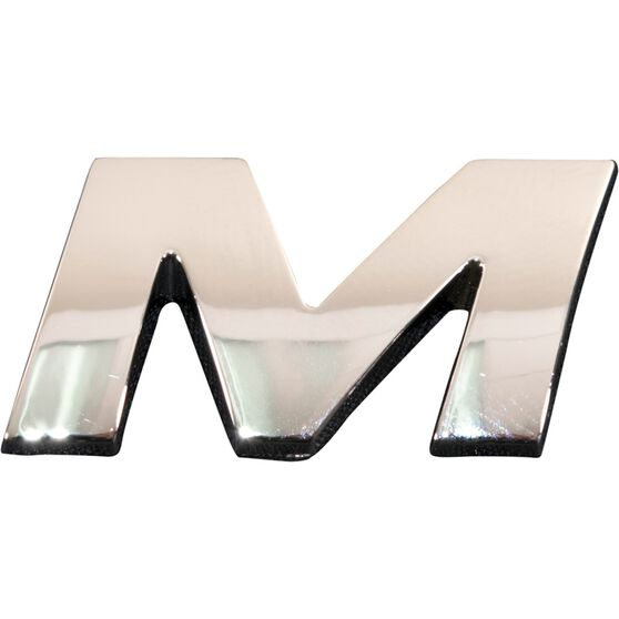 SCA 3D Chrome Badge Letter M, , scaau_hi-res