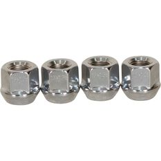 Tapered Open End Nuts, Chrome - 12X1.25MM, , scaau_hi-res