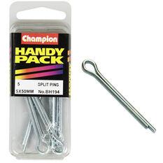 Champion Split Pins - 5mm, BH194, Handy Pack, , scaau_hi-res