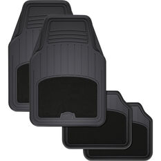 ArmoraAll Car Floor Mats - Carpet/PVC, Black, Set of 4, , scaau_hi-res