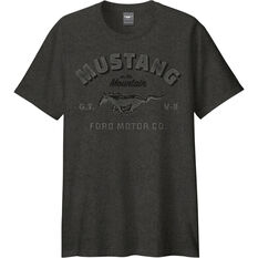 Mustang Men's T-Shirt Charcoal, , scaau_hi-res