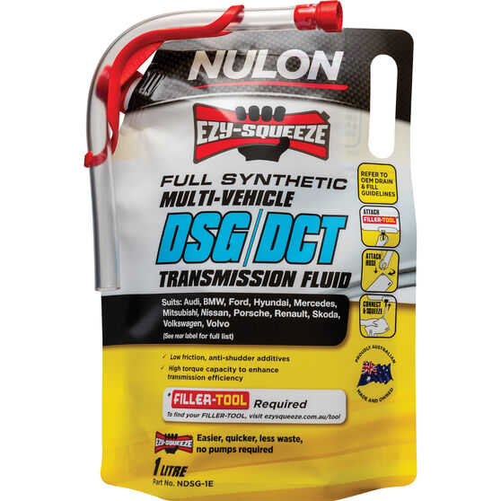 NULON EZY-SQUEEZE Multi-Vehicle DSG/DCT Transmission Fluid - 1 Litre, , scaau_hi-res