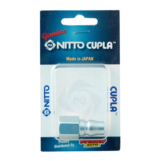 Nitto Air Fitting Nipple, Female Plug - 1 / 4inch, P-20PF, , scaau_hi-res