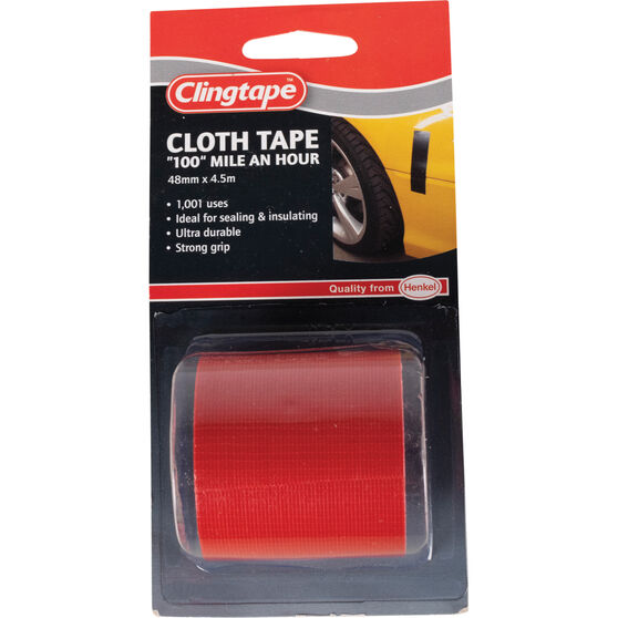 Clingtape Cloth Tape - Red, 48mm x 4.5m, , scaau_hi-res
