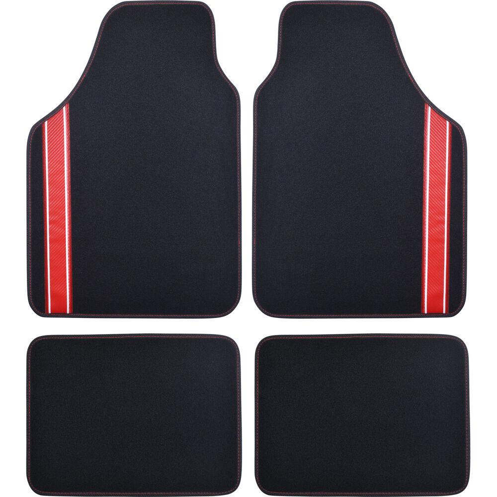 Carpet, Black / Red, Set Of 4