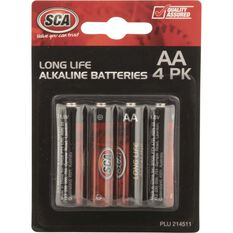 SCA Alkaline AA Batteries - 4 Pack, , scaau_hi-res