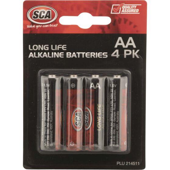 SCA Alkaline AA Batteries - 4 Pack, , scaau_hi-res