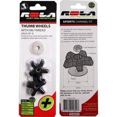 Rola Thumb Wheels - M6, 4 pack, RSLNW6PS4, , scaau_hi-res