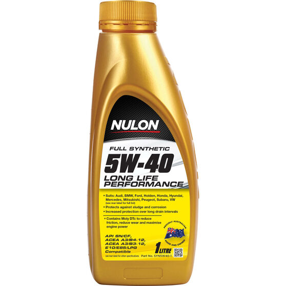 Nulon Long Life Engine Oil - 5W-40 1 Litre, , scaau_hi-res