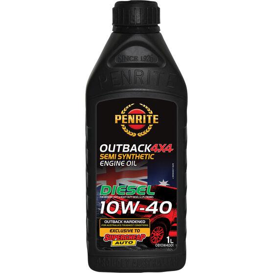 Penrite Outback 4x4 Diesel Engine Oil - 10W-40 -1 Litre, , scaau_hi-res