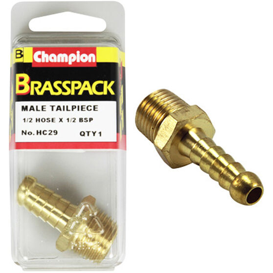 Champion Male Hose Barb - 1 / 2inch X 1 / 2inch, Brass, , scaau_hi-res