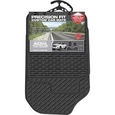 Precision Fit Custom Rubber Floor Mats - Suits Mazda BT50 XT/XTR/GT Dual Cab 2012+, Black, Set of 3, , scaau_hi-res