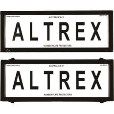 Altrex Number Plate Protector - 6 Figure, Deluxe, Clear, 6NL, , scaau_hi-res