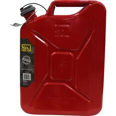 Pro Quip Supercan Metal Petrol Jerry Can 20 Litre, , scaau_hi-res