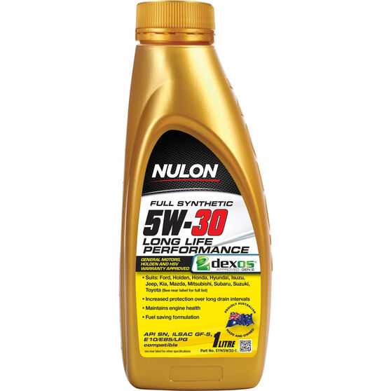 Nulon Full Synthetic Long Life Engine Oil - 5W-30 1 Litre, , scaau_hi-res