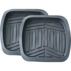 Ridge Ryder Deep Dish Car Floor Mats - Grey, Rear Pair, , scaau_hi-res