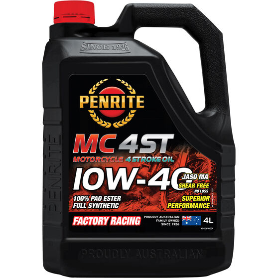 Penrite MC-4 PAO Ester Motorcycle Oil - 10W-40, 4 Litre, , scaau_hi-res